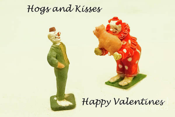 Photograph - Hogs And Kisses Clown Valentines by Marilyn Cornwell