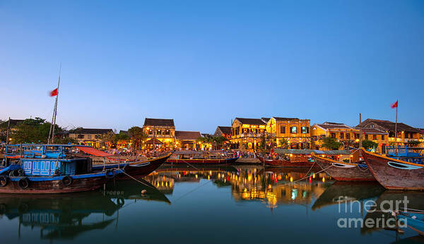 Riverside Wall Art - Photograph - Hoi An Old Town In Vietnam After Sunset by Banana Republic Images