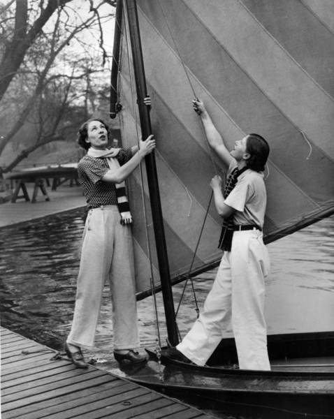 Pulling Photograph - Hoisting Sail by Fred Morley
