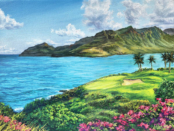 Painting - Hokuala Ocean Course by Steph Moraca