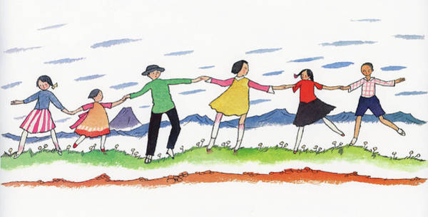 Wall Art - Painting - Hold Hands - Digital Remastered Edition by Takehisa Yumeji