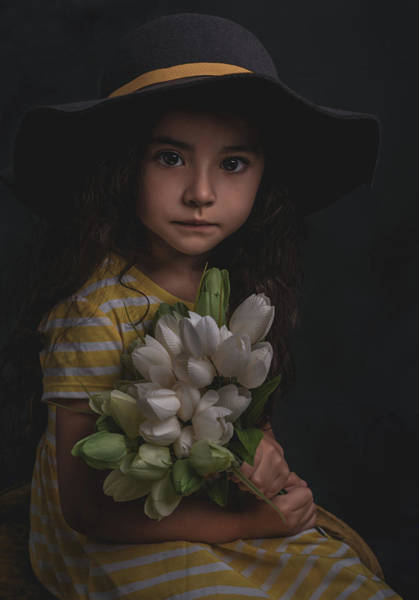 Photograph - Holding The Tulips by Teresa Blanton