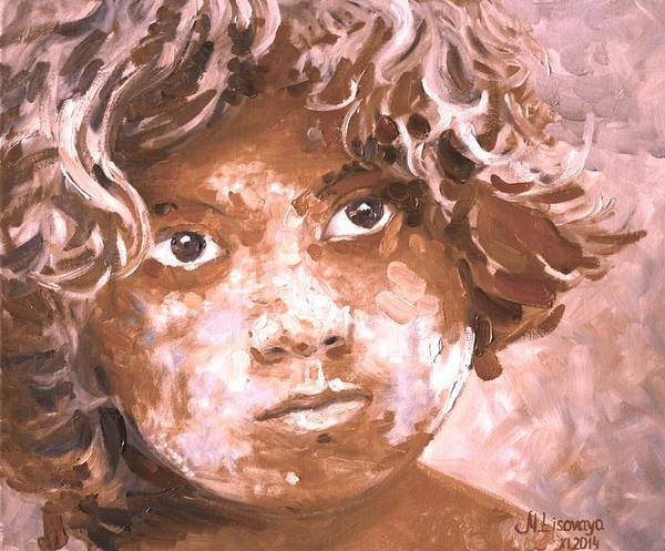 Wall Art - Painting - Holi Boy. Orange. by SurfArtTango Marina Lisovaya