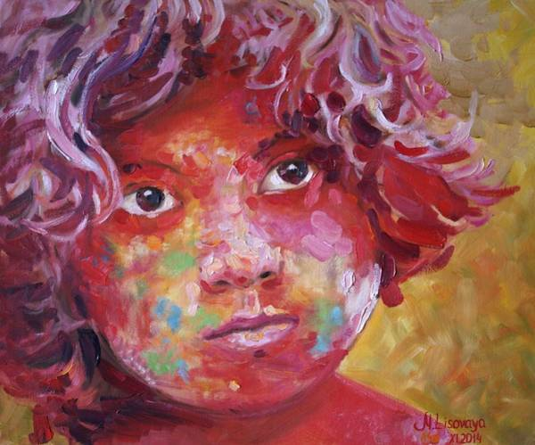 Wall Art - Painting - Holi Boy. by SurfArtTango Marina Lisovaya