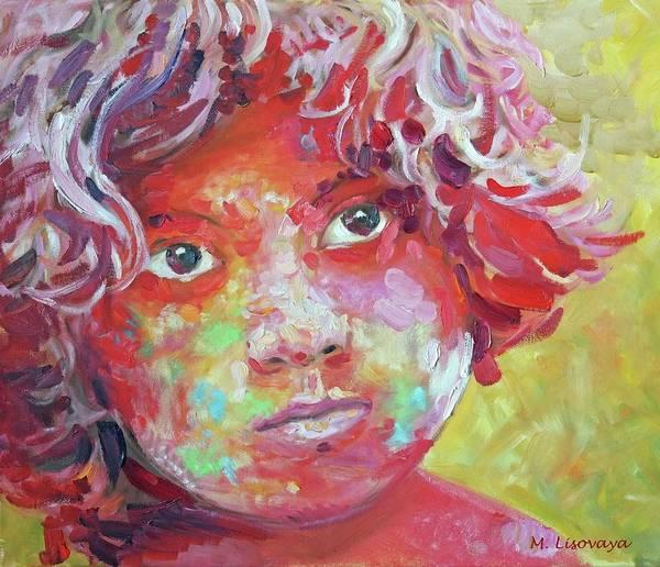 Wall Art - Painting - Holi Boy. Colorful. 1 Of 6 Colorful And Monochromatic Series. by SurfArtTango Marina Lisovaya