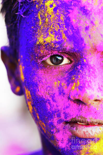 Photograph - Holi Face by Tim Gainey