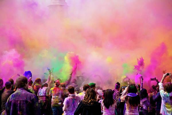 Holi Photograph - Holi - Festival Of Colors by Bill Gerrard