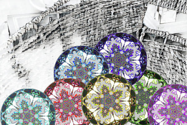 Sketch Holiday Photograph - Holiday Basket Of Nature by Aliceann Carlton