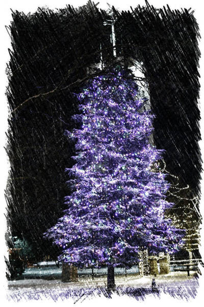 Doona Mixed Media - Holiday Christmas Tree Frankfort Il Pa Vertical by Thomas Woolworth
