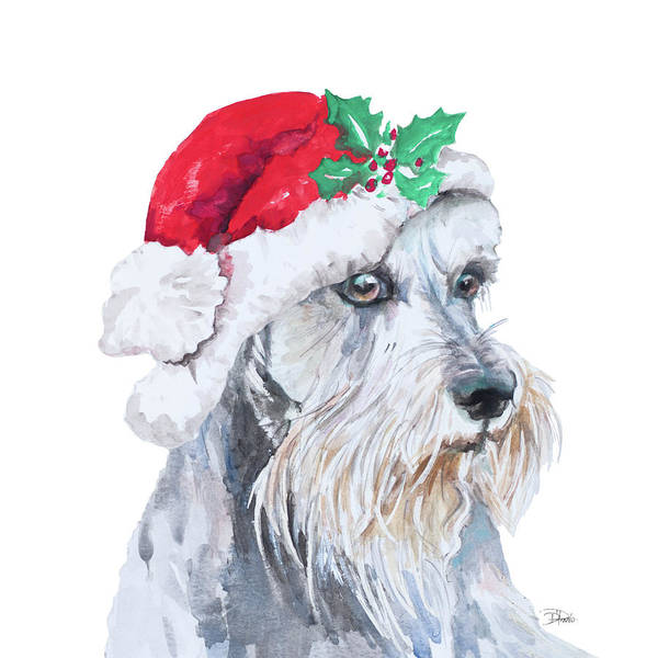 Schnauzer Wall Art - Painting - Holiday Dog Iv by Patricia Pinto