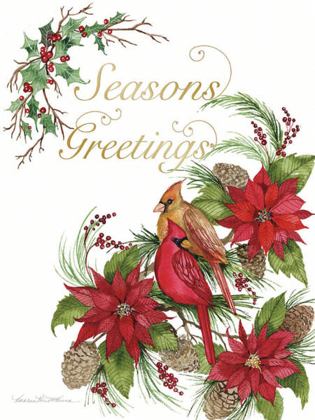 Wall Art - Painting - Holiday Happiness Vi Greetings by Kathleen Parr Mckenna