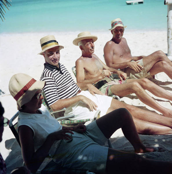 Straw Hat Photograph - Holiday In Antigua by Slim Aarons