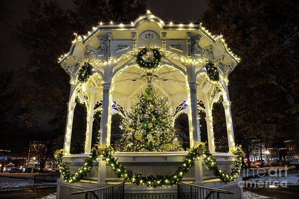 Photograph - Holiday Lights - Gazebo by James Guilford
