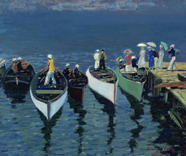 Wall Art - Painting - Holiday On The Hudson, 1912 by George Benjamin Luks