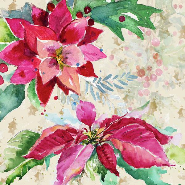 Wall Art - Painting - Holiday Poinsettia I by Patricia Pinto