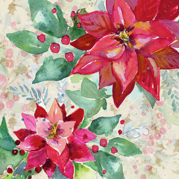 Wall Art - Painting - Holiday Poinsettia II by Patricia Pinto
