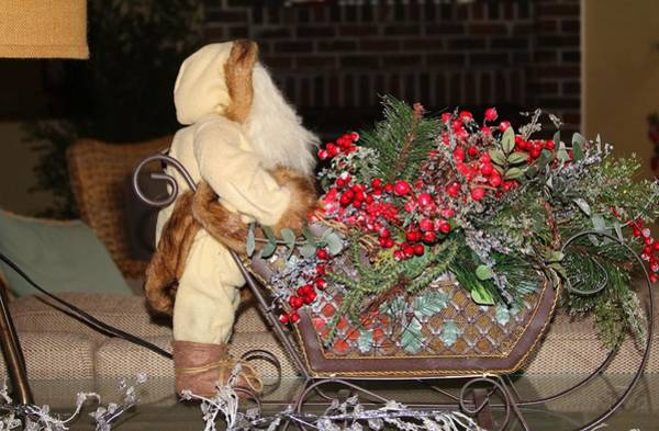 Photograph - Holiday Tabletop Sleigh  by Cynthia Guinn