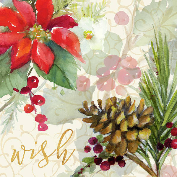 Wish Painting - Holiday Wishes Iv by Lanie Loreth