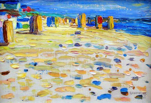 Wall Art - Painting - Holland, Beach Chairs - Digital Remastered Edition by Wassily Kandinsky