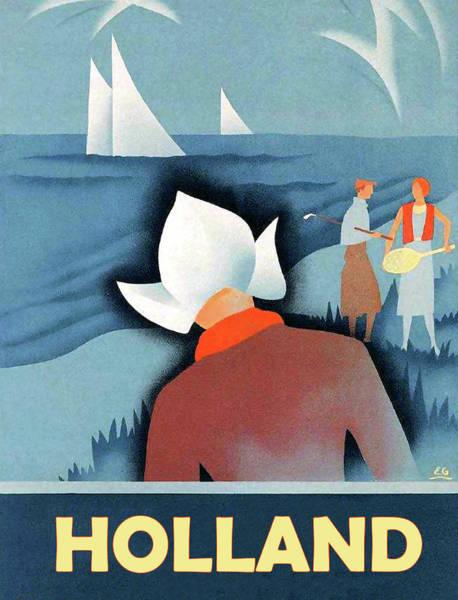Sails Digital Art - Holland by Long Shot