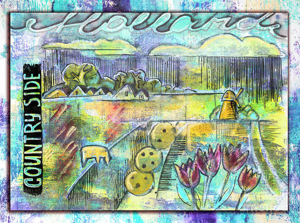 Mixed Media - Holland Spring Lanscape by Ariadna De Raadt