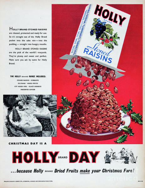 Wall Art - Photograph - Holly Brand Stoned Raisins by Picture Post