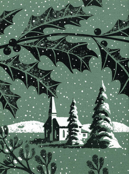 Holly Digital Art - Holly With Steeple Church by Graphicaartis