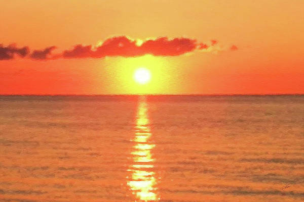 Painting - Hollywood Beach Sunrise by Dean Wittle