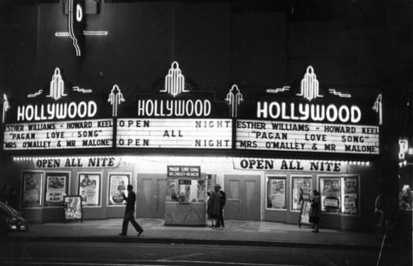 Street Photograph - Hollywood Cinema by Kurt Hutton