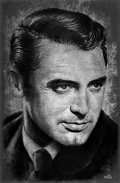 Wall Art - Drawing - Hollywood Legends Cary Grant by Andrew Read