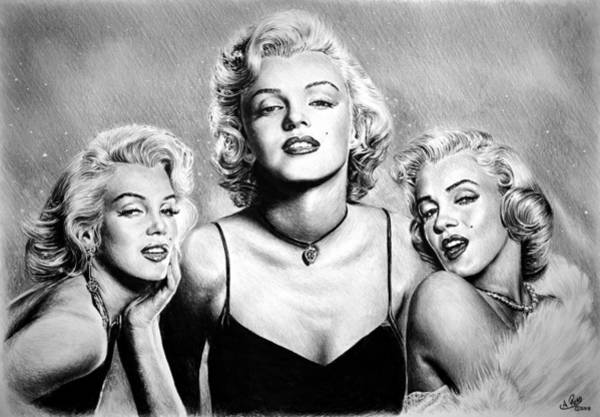 Marilyn Drawing - Hollywood Legends Marilyn by Andrew Read