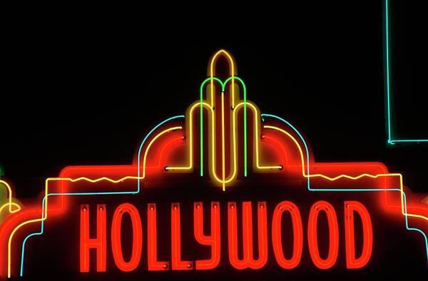 Hollywood Photograph - Hollywood Neon Sign, Los Angeles by Visionsofamerica/joe Sohm