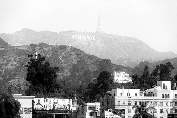 Wall Art - Photograph - Hollywood Sign Black And White by John Rizzuto