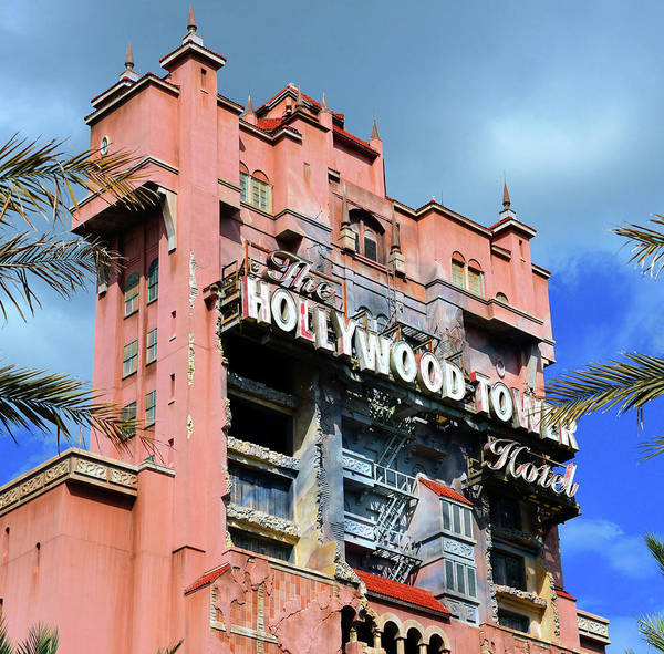 Wall Art - Photograph - Hollywood Tower Work A by David Lee Thompson