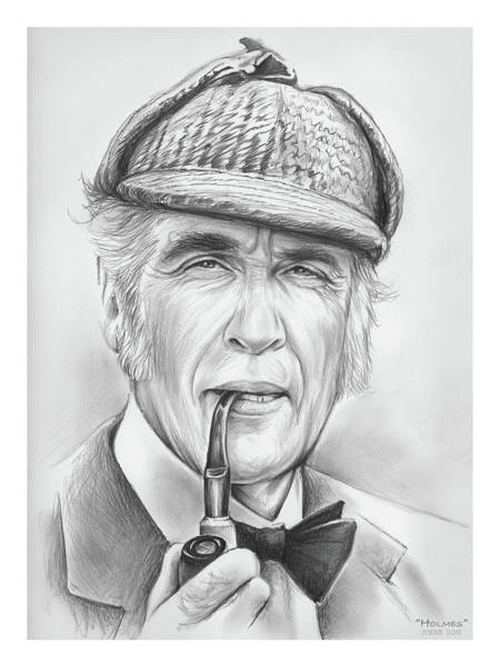 Wall Art - Drawing - Holmes by Greg Joens