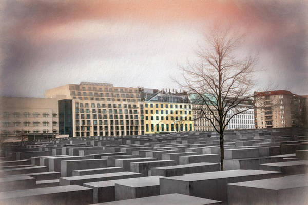 Holocaust Photograph - Holocaust Memorial Berlin Germany by Carol Japp