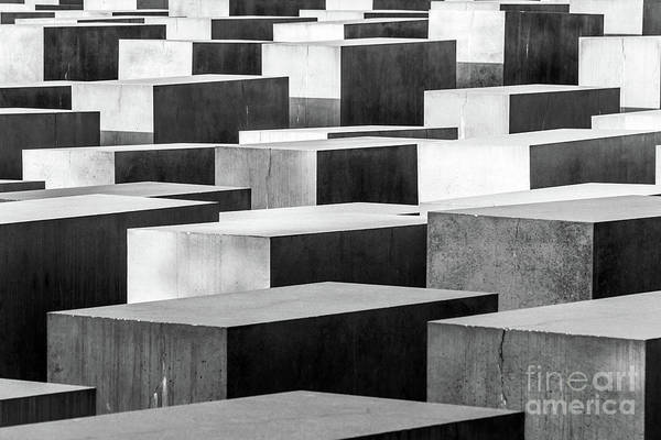 Holocaust Photograph - Holocaust Memorial In Berlin by Delphimages Photo Creations