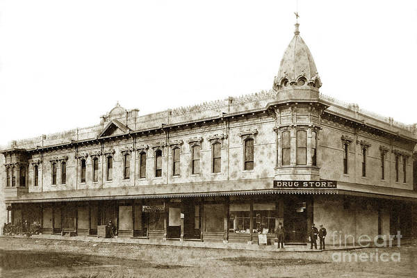 Photograph - Holt Block' Building  It Was Built In 1886, Visalia, Tulare Coun by California Views Archives Mr Pat Hathaway Archives