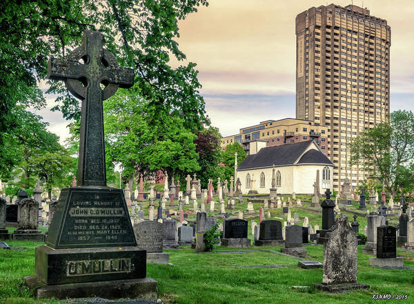 Digital Art -  Holy Cross Cemetery And Our Lady Of Sorrows Chapel by Ken Morris