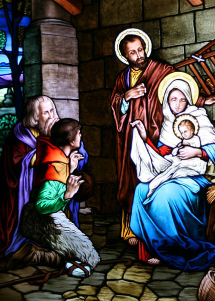 Wall Art - Photograph - Holy Family With The Shepherds by Munir Alawi