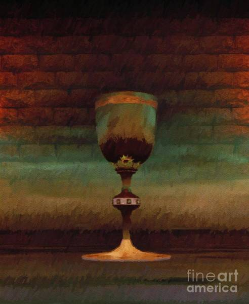 Wall Art - Painting - Holy Grail by Sarah Kirk