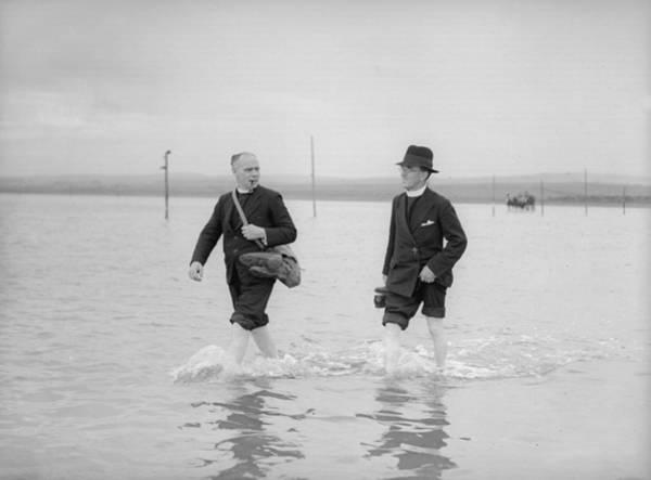 Pilgrimage Photograph - Holy Island Pilgrims by Fox Photos