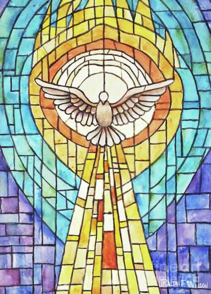 Painting - Holy Spirit Window by Ralph F Wilson