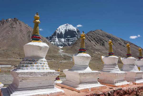 Photograph - Holy Stupas by Peng Shi