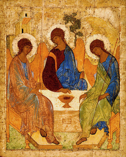Wall Art - Painting - Holy Trinity by Andrei Rublev
