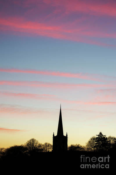 Wall Art - Photograph - Holy Trinity Church After Sunset Silhouette by Tim Gainey
