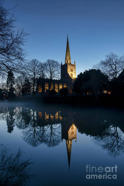 Warwickshire Photograph - Holy Trinity Church On Christmas Eve by Tim Gainey