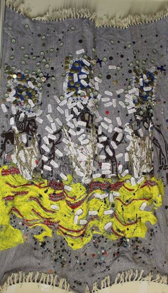 Painting - Holy Trinity Lord Of The Dance As Sung By Many A Choir Uganda by Gloria Ssali
