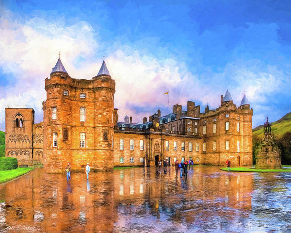Holyrood Photograph - Blue Skies Over Holyrood Palace by Mark E Tisdale