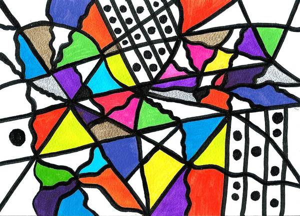 Drawing - Homage To The Muses 1 by Susan Schanerman